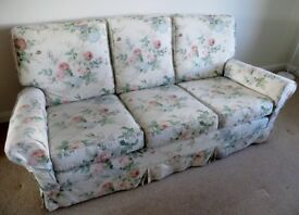 3 SEATER SOFA WITH SANDERSON LOOSE COVERS