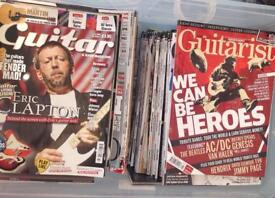 Guitar/ rock magazines . Batch of approx 40 mags to clear