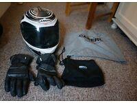 Caberg Bike Helmet, WP gloves, and neck wind break *SMALL*