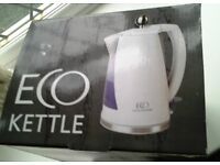 NEW WHITE (boxed) ECO2 KETTLE 1.5 Litres 2.2 KW.