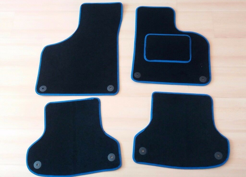Audi A Car Mats Black With Blue Trim In Carrickfergus County - Audi car mats