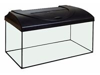 Fish Tank 80x35x40cm 3ft, Bow Front + Refurbished beech or black hood