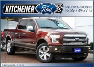 2015 Ford F-150 LARIAT/4WD/TOW PKG/LTHR/NAVI AND MORE!