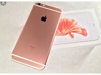 Beautiful condition apple iPhone 6s Plus in rose gold o2 network comes with boxAnd charger