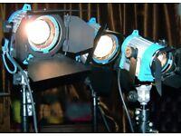 Arri lighting kit /650/300/150 Flightcase 3 stands and 9 bulbs