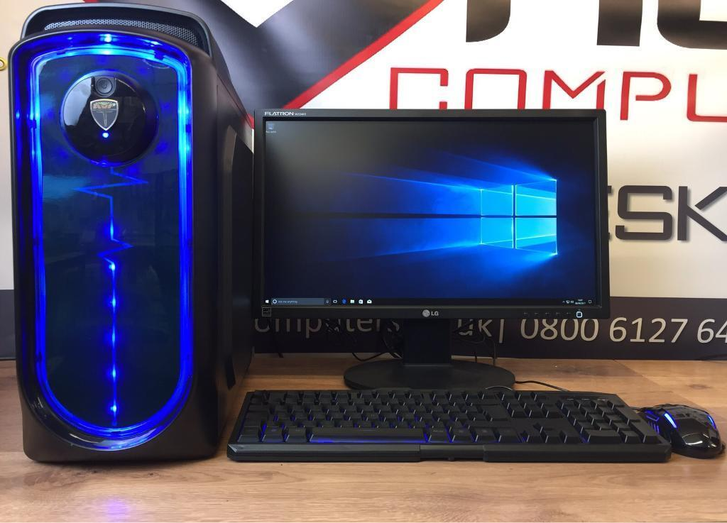 New Fast Home/Gaming PC Desktop Computer Quad Core 8GB RAM 128GB SSD Win 10 Wifi Free Delivery