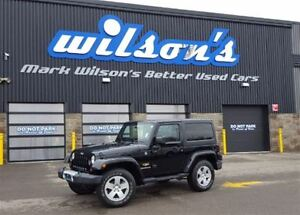 2012 Jeep Wrangler SAHARA 4WD ALLOYS! BLUETOOTH! POWER PACKAGE!