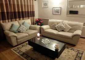 Luxury Leather Sofa Champagne Set