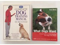 WHAT DOGS WANT Arden Moore THE RSPCA COMPLETE DOG TRAINING MANUAL dr Bruce fogle. Puppy to older dog