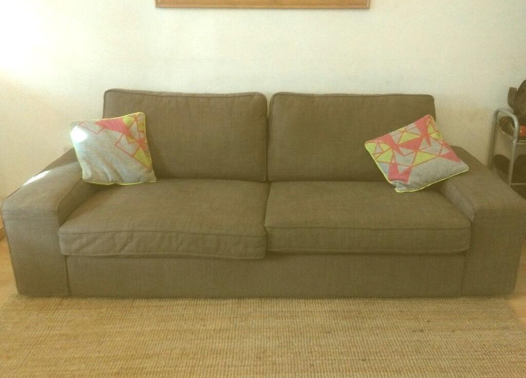 Ikea KIVIK Sofa - 3/Three seater - Tullinge gray-brown