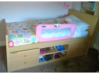 Child's Single Bed with Storage