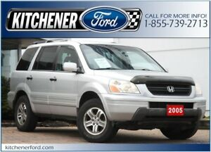 2005 Honda Pilot EX-L HEATED LEATHER/ROOF/4WD/8 PSSNGR/7 CD A...