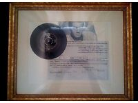 Elvis Presley only one ever made signed wedding certificate with real record.