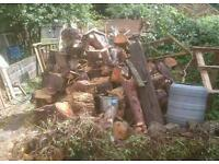 Large amount of wood logs