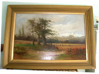 Large Oil PaInting Of a Pastoral Scene