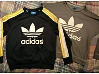 x2 Adidas Women's Sweatshirts Size 10