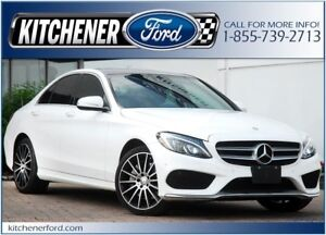 2015 Mercedes-Benz C-Class AWD/LEATHER/PANO ROOF/CAMERA/NAVI...