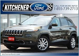 2015 Jeep Cherokee Limited FWD/CAMERA/NAVI/LEATHER/PWR GROUP