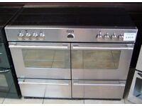 To clear! Stoves 110cm Electric Silver Range Cooker, Induction Ceramic Hob, 6 Month Cover
