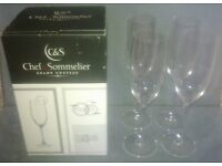4 Chef & Sommelier Champagne Flutes