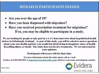 MIGRAINE STUDY: Participants Needed in Edinburgh for Paid Study
