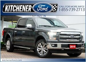 2016 Ford F-150 LARIAT/4WD/LEATHER/NAVI/CAMERA/TOW PKG/PWR GROUP