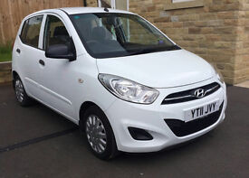 Hyundai i10 1.2 Classic 5dr, White, LOW MILEAGE, Great First Car, Excellent Condition, 84 bhp