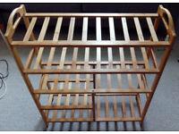 Futon Company Shoe Rack Bamboo