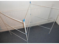 Folding Laundry Airer and Washing Basket - £5 the lot