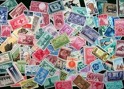 100 MINT US Postage Stamp Lot, all different ,1930s-1970s MNH UNUSED