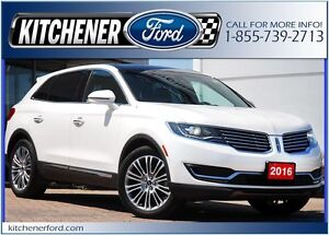 2016 Lincoln MKX Reserve AWD/PANOROOF/CAMERA/HOT&COLD LEATHER...