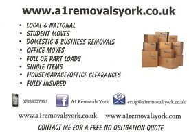 Removals/house moves/clearances