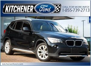 2012 BMW X1 xDrive28i AWD/LEATHER/PANO ROOF/HTD SEATS/ONLY 65...