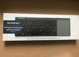 Job Lot 7 x SANDSTROM Wireless Keyboard with TouchPad SKBWLTP17- RRP £29 each