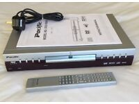 DVD & Compact Disc Video player complete with user guide and Remote control.