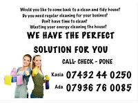Cleaning houses or businesses