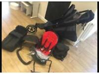 Phil and ted navigator with cocoon , foot muff , car seat adapter, double buggy. Pram . Pushchair