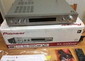 Slim AV receiverPioneer SX-S30DAB-, Network streamer, 4k,Hdr,,Stereo wifi , phono input