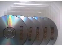 5 Blank CD-R + 5 Plastic CD Cover - 700MB, 80Min, 52x Speed!