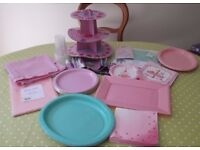 Large Party Bundle - Mostly Pink & Mint Green 1st Birthday, Photo Props etc