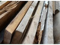 Scaffold board size timber 13ft reject, split, broken, rotten, may be good for garden works