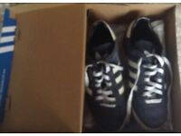 Pair of navy trainers casual shoes size 8