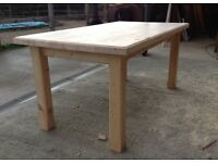 New solid pine dining table 6ftx3ft handmade chairs bench's chunky rustic shabby chic farmhouse