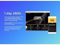 1 day website design and development for £600 (yes, we really make websites in a day - UK team)