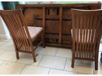 6 solid wood dining table chairs
