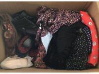 Clothes sz 6-8 dresses, skirts and shoes sz 4