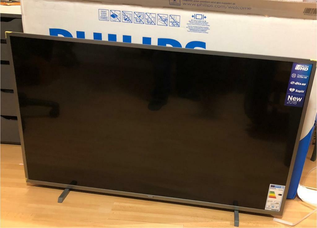 "Philips 50"" 4K TV only 3 weeks old 50PUS6523 (Too big for my living room) 