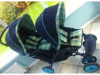 Mothercare Tandem Double Pushchair Stroller Buggy
