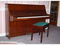 Lenberg piano comes complete with matching stool.