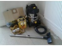 wet dry vacuum £100.00 ONO...110 v with cable and transformer and bags